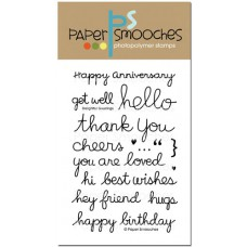 Paper Smooches - Stempelset 4x6 - Delightful Greetings