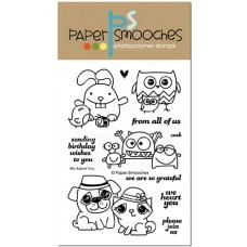 Paper Smooches 4x6 Clear Stamps - We Adore You 1/5.jpg