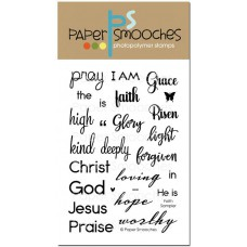 Paper Smooches - Faith Sampler - Clear Stamp Set 4x6