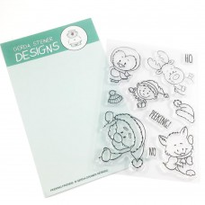 Gerda Steiner Designs - Peeking Friends - Clear Stamps 4x6