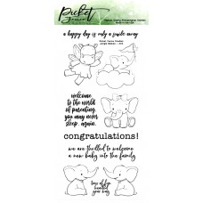 Picket Fence Studios - Jungle Babys - Clear Stamps 4x8