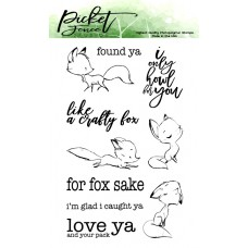 Picket Fence Studios - Like A Crafty Fox - Clear Stamps 4x6