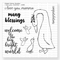 Picket Fence Studios - I Love You, Momma - Clear Stamps 4x4
