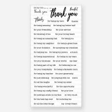 Picket Fence Studios - Small Ways To Say Thanks - Clear Stamps 4x8
