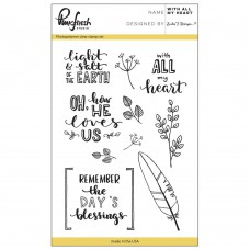 Pinkfresh Studio - With All My Heart - Clear Stamp Set 4x6