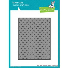 Lawn Fawn - Polka Heart Backdrop: Portrait - Stanze