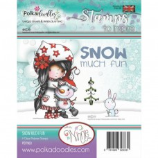 Polkadoodles - Clear Photopolymer Stamps - Winnie Snow Much Fun