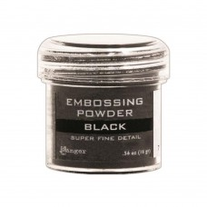 Ranger - Embossing Powder 1oz (16gr) - Super Fine Black