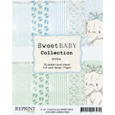 Reprint - Sweet Baby Collection - Blau - 6x6 Inch Paper Pack