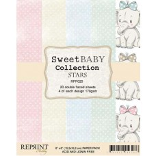 Reprint - Sweet Baby Collection - Stars - 6x6 Inch Paper Pack