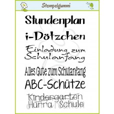 JM Creation - Schule hurra - Cling Stamp