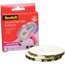Scotch Advanced Tape Glider Refill Rolls 6mm Acid Free