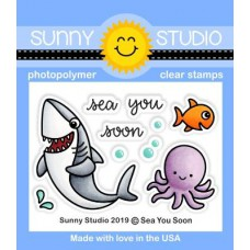 Sunny Studio - Sea You Soon - Clear Stamps 2x3