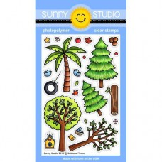 Sunny Studio - Seasonal Trees - Clear Stamps 4x6