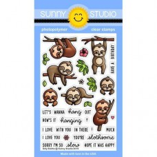 Sunny Studio - Silly Sloths - Clear Stamps 4x6