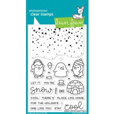 Lawn Fawn - Snow Cool - Clear Stamp 4x6