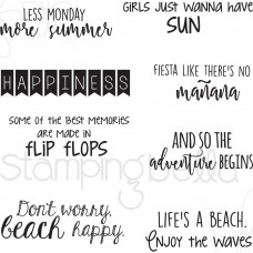 Stamping Bella - Summer Sentiment - Rubberstamp