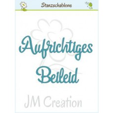 JM Creation - Aufrichtiges Beileid - Stanze