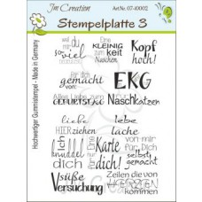 JM Creation - Stempelplatte 3 - Rubberstamp