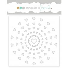 Create A Smile - Schablone - Heart Rays