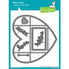 Lawn Fawn - Stitched Heart Envelope - Cuts
