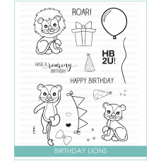 Studio Katia - Birthday Lions - Clear Stamp