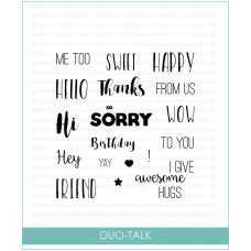 Studio Katia - Duo Talk - Clear Stamp