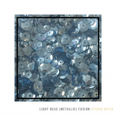 Studio Katia - Sequin Fusion - Light Blue Metallic
