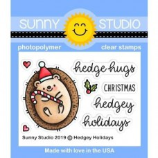 Sunny Studio - Hedgey Holidays - Clear Stamps 2x3