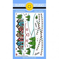 Sunny Studio - Scenic Route - Clear Stamps 4x6