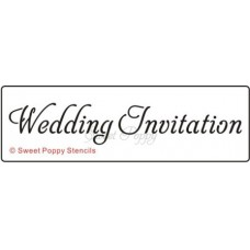Sweet Poppy - Schablone - Wedding Invitation