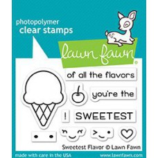 Lawn Fawn - Sweetest Flavor - Clear Stamps 2x3