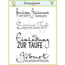 JM Creation - Taufe und Geburt - Cling Stamp