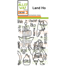 """The Alley Way Stamps - Stempelset 4x6"""" - Land HO"""