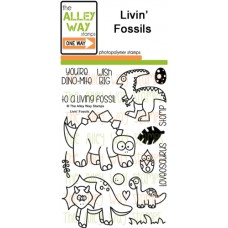 """The Alley Way Stamps - Stempelset 4x6"""" - Livin Fossil"""