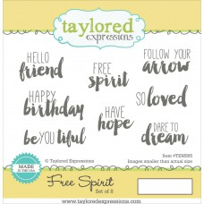 "Taylored Expressions Cling Stamps 4.75"" - Free Spirit"