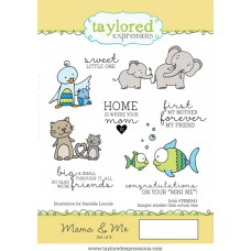 Taylored Expressions Cling Stamps 4x6 - Mama & Me