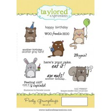 Taylored Expressions Cling Stamps 4x6 - Party Gumplings