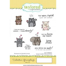 Taylored Expressions Cling Stamps 4x6 - Valentine Grumplings 1/4