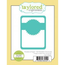Taylored Expressions Die - Pockets & Pages - 3x4 Medallion Showcase 2/4