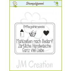 JM Creation - Pflegehinweis - Cling Stamp