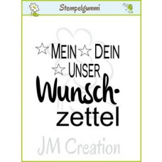JM Creation - Wunschzettel - Cling Stamp
