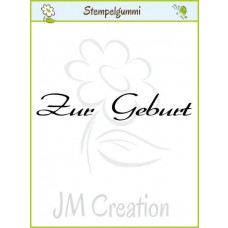 JM Creation - Zur Geburt 2 - Cling Stamp