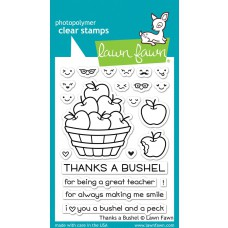 Lawn Fawn - Thanks A Bushel - Clear Stamp 3x4