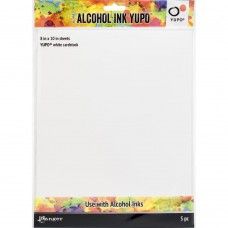 "Tim Holtz Alcohol Ink White Yupo Paper 8x10"" 5/Pkg"