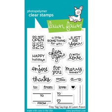 Lawn Fawn - Tiny Tag Sayings - Clear Stamp 3x4