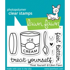 Lawn Fawn - Trea Yourself - Clear Stamps 2x3