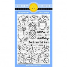 Sunny Studio - Tropical Paradise - Clear Stamps 4x6