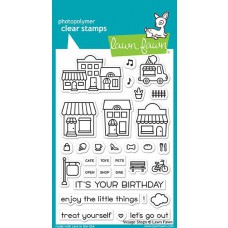 Lawn Fawn - Village Shops - Clear Stamps 4x6