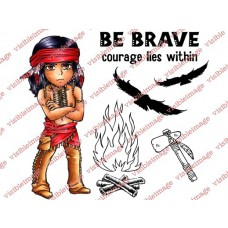 clear stamps visible image Silverheels Brave für scrapbooking & cardmakings